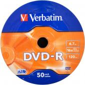 «Диски DVD-R VERBATIM 4,7Gb 16x Wrap 50 штук 43788»