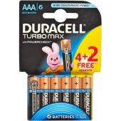 «Батарейка Duracell Turbo LR-03 ААА по 6 штуки mini»