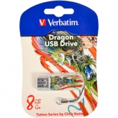 «Купить «Флешка USB 2.0 8  Gb Verbatim Store'n'go MINI TATTOO DRAGON» в магазине color-it»
