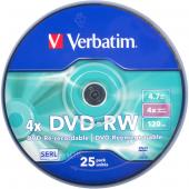 «Купить «Диски DVD-RW VERBATIM 4,7  Gb 4  x Cake 25 штук Silver» в магазине color-it»