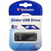 «Купить «Флешка USB 2.0 8Gb Verbatim Store'n'go Slider Black» в магазине color-it»
