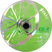 "«Диски CD-R KAKTUZ 700Mb 52x Bulk 50 штук ""LIME""»"