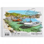 "«Альбом А4 ""COLOR KRAFT"" 20 листов, 200г/м², спираль»"