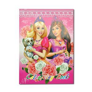 "Раскраска цветная А4 с наклейками+подсказка ""Барби ..."