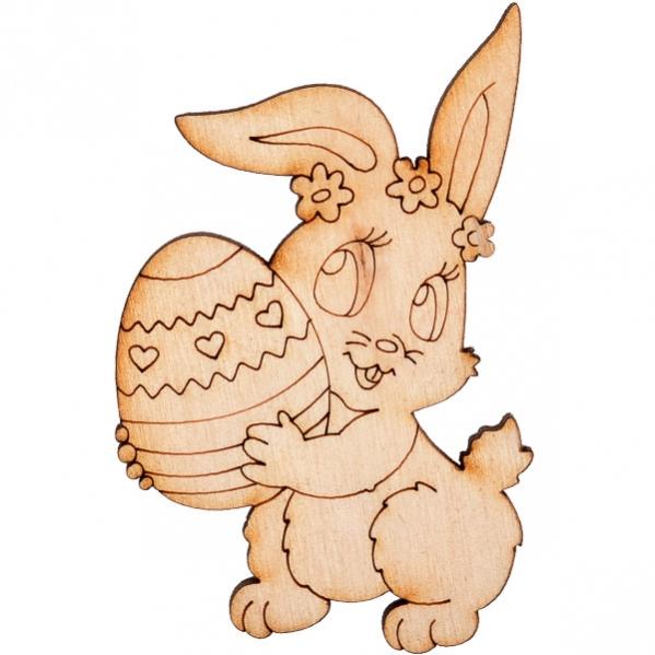 """Раскраска из дерева """"Зайка с яйцом"""" - купить по выгодным ..."""
